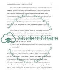 security and domestics anti terrorism essay example topics and  security and domestics anti terrorism essay example