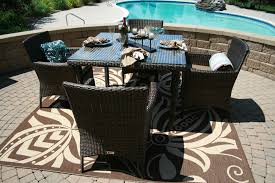 the lantana collection 5 piece all weather wicker patio furniture dining set