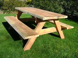 good wood patio table