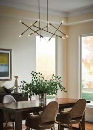 linear dining room lighting. Dinning Modern Linear Chandelier Dining Room Lighting