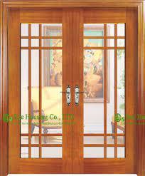 double leaf timber veneer wooden door