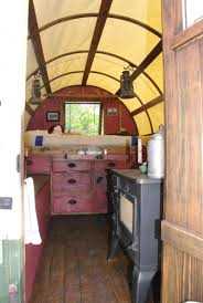 Small Picture enter thru these dutch doors to the inside of sheep wagon Camper