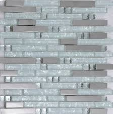 kitchen backsplash glass tile. Delighful Kitchen Silver Metallic Mosaic Tile Glass Kitchen Backsplash SSMT131  Crystal White Stainless Steel Throughout Kitchen Backsplash Glass Tile