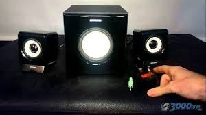 speakers with subwoofer. sumvision ncube pro 2.1 black pc mp3 laptop speaker system with subwoofer review - youtube speakers