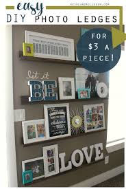 Decorating with pictureseasy diy picture ledges!