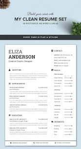 Clean Modern Resume Template Resume Microsoft Word 2010 For A Modern Clean