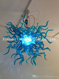 c66 small size hand blown glass pendant lamps blue murano glass chihuly style crystal chandelier light for home kitchen pendant lighting kitchen ceiling