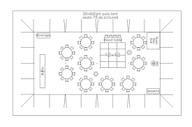 Wedding Reception Table Layout Cad Tent Layout For Wedding Reception With 75 Guests In Bellingham