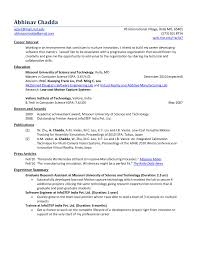 Objective In Resume For Computer Science Sample Resume for Computer Science Freshers RESUME 42
