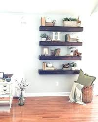 thick wood shelves cherry wall