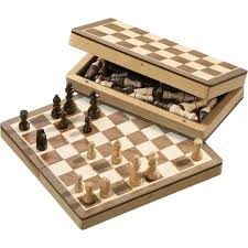 philos magnetic wood chess set 22 mm field
