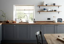gray kitchen cabinet elegant a dark grey shaker style kitchen cabinet door with a wood grained
