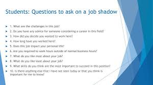 Questions To Ask At Job Shadow Take An Owl To Work Day Ppt Download