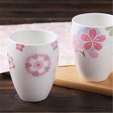 Us 1903 Japanse Glazuur Keramische Kopjes Thee Bloem Hot Theekopje Creatieve Xicara Porselein Korte Milieuvriendelijke Koffie Cups Voorraad Qqb778