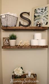 Floating Shelves Around Tv Diy Faux Floating Shelves Small Bathroom And Shelves