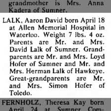 Aaron Lack Birth announcement - Newspapers.com