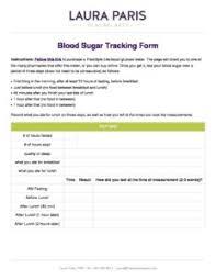 Sugar Tracking Blood Sugar Tracking Laura Paris Healing