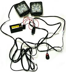 Kawell 2 leg wiring harness include switch kit support 120w led