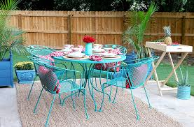 spray paint patio chairs how to paint a wrought iron patio set with chalk paint