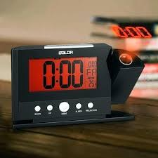 clock that projects time on ceiling alarm clock projects time on wall projection alarm clock wall ceiling display weekday temperature orange clocks modern