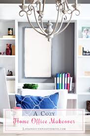home office makeover. Interesting Office A Cozy Home Office Makeover Home Office Makeover Office One Room  Challenge To Makeover