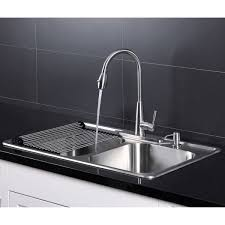 Afa Stainless Double Bowl 33 Dual Mount Kitchen Sink Faucet Combo
