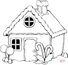 Small Picture Christmas gingerbread house coloring page Free Printable