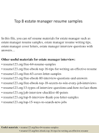 Property Manager Resumes Awesome Top 48 Estate Manager Resume Samples