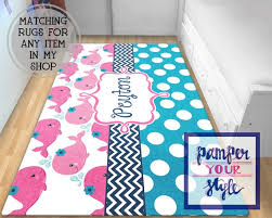 personalized area rugs whale rug splish splash nursery nautical area rug pink 570 x 456