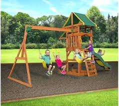 backyard discovery cedar swing set playground outdoor kids slide accessories playset adventures all s