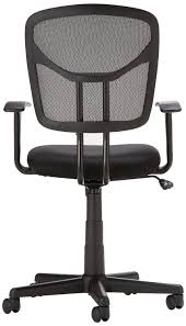 White Rolling Chair Amazoncom Amazonbasics Mid Back Mesh Chair Kitchen Dining
