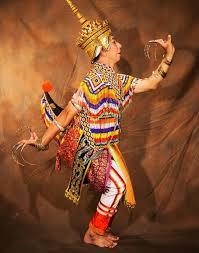 Element of an asian dance