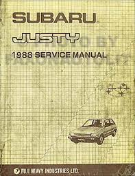 1990 subaru justy repair shop manual original set 1988 subaru justy repair shop manual original