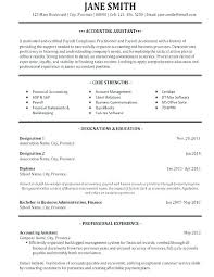Samples Of Accounting Resume Sample Resume For Accounting Clerk