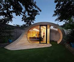 Tube office Tube Station Modern Shed And Office Combo In Unique Timber Tube Form Wade Asia Modern Shed And Office Combo In Unique Timber Tube Form Shoffice