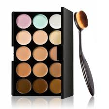 laimeng cosmetic makeup blusher toothbrush curve foundation brush 15 colors concealer