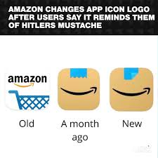 The current status of the logo is active, which means the logo is currently in use. What S Trending On Twitter Amazon Has Reportedly Quietly Changed Their App Icon Due To Comparisons To Adolf Hitler S Infamous Mustache Users Will Not See A Brown Box That Resembled A Parcel With