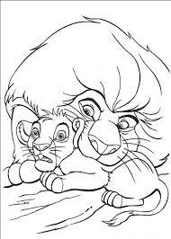 Kleurplaat Simba Leeuwenkoning Lion King Monkey Coloring Pages