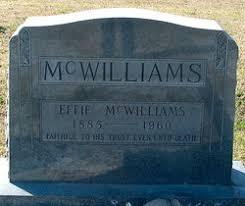 Effie Oliver McWilliams (1885-1960) - Find A Grave Memorial