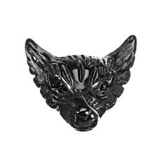 natural black obsidian wolf head pendant necklace jewelry quartz crystal gift