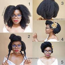 elegant wedding step by step updo tutorial for natural hair