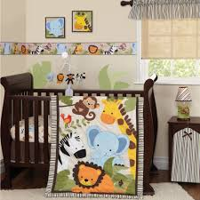 lambs ivy bedtime originals jungle buds 3 piece crib bedding set brown