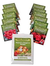 garden seed companies. Plant It And Forget Vegetable Garden Organic Seeds, Set Of 11 Seed Companies