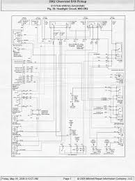 2002 s10 rear wiring diagram chevy s10 tail light wiring