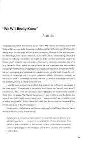 alan liu publications  we will really know