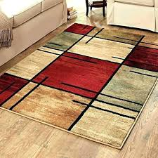 red and brown rugs modern red orange and brown rugs