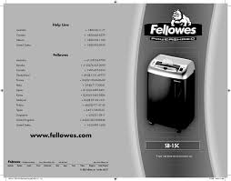 Fellowes Ps 67cs Shredder Red Light Fellowes Sb 15c Users Manual Manualzz Com