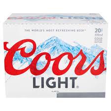 20 Bottles Of Coors Light Coors Light Lager 20 X 330 Ml Amazon Co Uk Prime Pantry