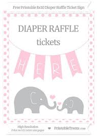raffle sign free pink dotted elephant 8x10 diaper raffle ticket sign baby