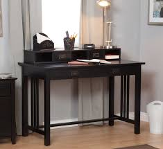 black laptop modern secretary desk with hutch